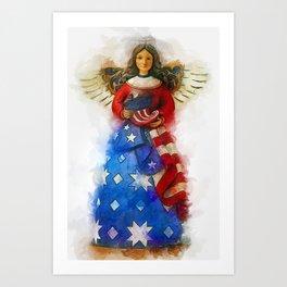 USA Angel Art Print