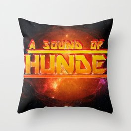 A Sound of Thunder Fire Planet Throw Pillow