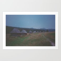 COTTAGES Art Print
