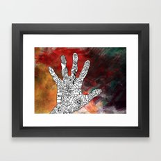 Touch Reality Framed Art Print