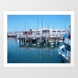 boats in color Art Print