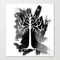 gondor Canvas Prints featuring White Tree Of Gondor by Icarusdie