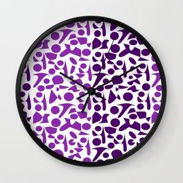 Purpur violet Leopard Pattern Wall Clock