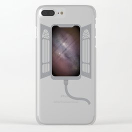 Gate to infinity - gray Clear iPhone Case