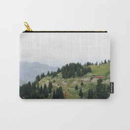 Photo of the railway station Schynige Platte, Suisse | Colorful travel photography | Carry-All Pouch
