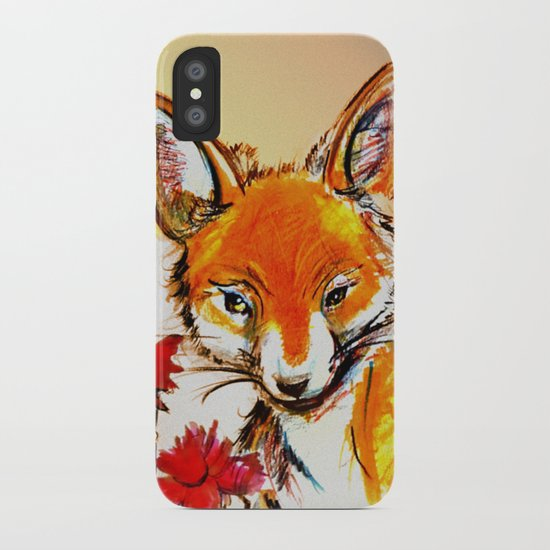 Fox in Sunset iPhone Case