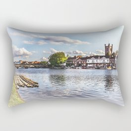 Preparing For The Royal Regatta Rectangular Pillow