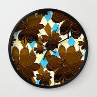 magnolia Wall Clocks featuring Magnolia  by Saundra Myles