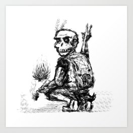 Bonehead (Bad Guys Club 2017) Art Print