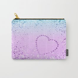 Sparkling UNICORN Girls Glitter Heart #9 #shiny #pastel #decor #art #society6 Carry-All Pouch