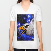 eagle V-neck T-shirts featuring Eagle by Saundra Myles