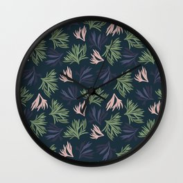 Floating Corals Wall Clock