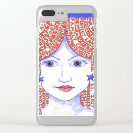 Women's March on Washington Red, White and Blue Clear iPhone Case