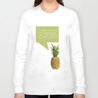 psych Long Sleeve T-shirts featuring psych tv show... im not inclined to resign to maturity by studiomarshallarts