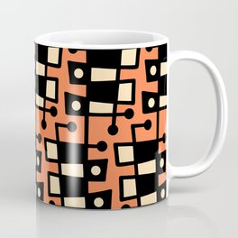 Mid Century Modern Abstract 212 Orange Coffee Mug