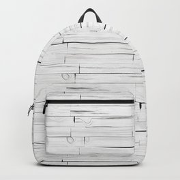 White Wooden Planks Wall Backpack
