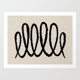 Line art abstract black 2 Art Print