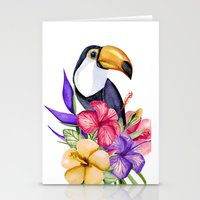 toucan Stationery Cards featuring Toucan by Julia Badeeva