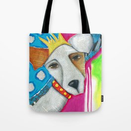Dog Abstract Original Art Jack Russell Terrier painting The Queen Tote Bag