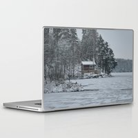 cabin Laptop & iPad Skins featuring Red Cabin by Accessorius