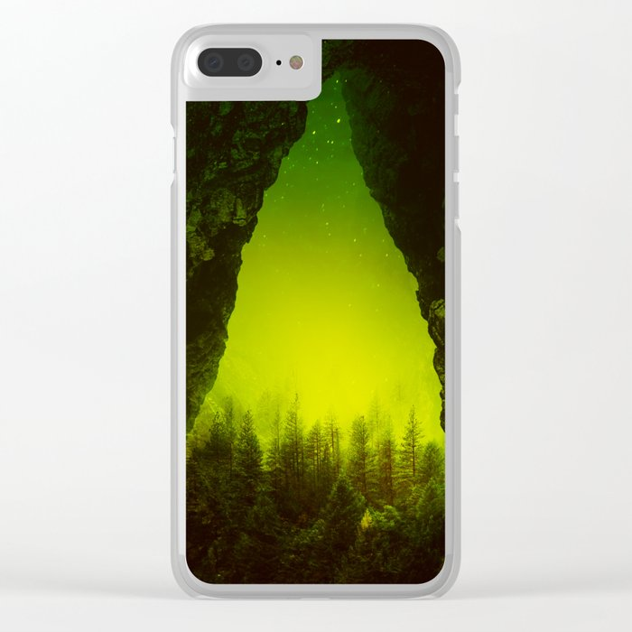 Toxic Forest Clear iPhone Case