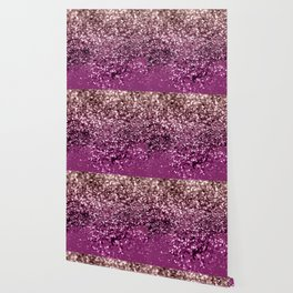 Sparkling BLACKBERRY CHAMPAGNE Lady Glitter #2 #decor #art #society6 Wallpaper