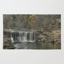 Cumberland falls in the fall Rug