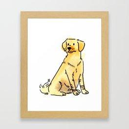 Latte - Dog Watercolour Framed Art Print