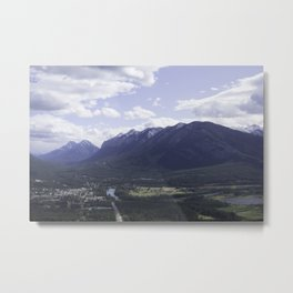 Town of Banff from above Metal Print