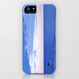 Blue on Blue at the River Mouth iPhone Case