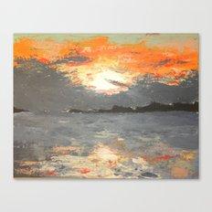 A Mackinac Island Sunset Canvas Print