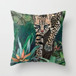Ocelot Throw Pillow
