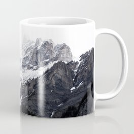 Moody snow capped Mountain Peaks - Nature Photography Coffee Mug