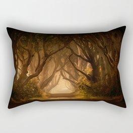 Sunny morning at Dark Hedges Rectangular Pillow