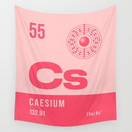 Periodic Element A - 55 Caesium Cs Wall Tapestry