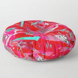 Groovy Red & Pink Floor Pillow