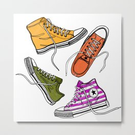 My Converse Sneakers Metal Print
