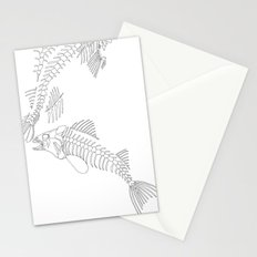 fish bones Stationery Cards