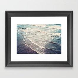 Ocean Waves Retro Framed Art Print