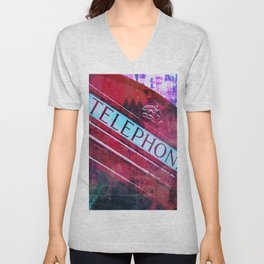 telephone Unisex V-Neck