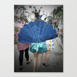Mardi Gras Peacock, 2011.  New Orleans, LA Canvas Print