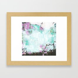 Crossroads - Square Abstract Expressionism Framed Art Print
