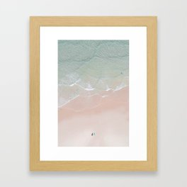 Surf yoga Framed Art Print