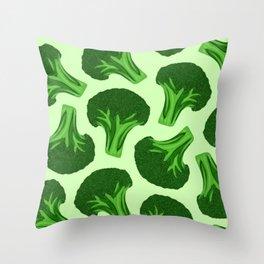 Verdant Broccoli Pattern Throw Pillow
