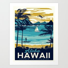 Vintage poster - Hawaii Art Print