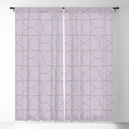 Modern Geometric Line Art in Lavender Blackout Curtain