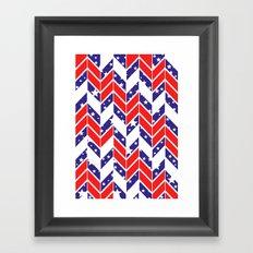 Chevron USA Framed Art Print