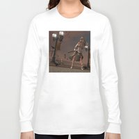 steam punk Long Sleeve T-shirts featuring Steam Punk - The Crows by J. Ekstrom