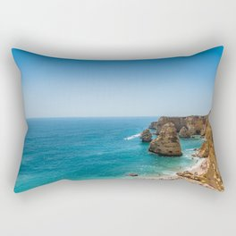 Beach at Lagoa, Algarve, Portugal Rectangular Pillow