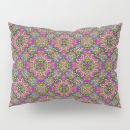 Pink and Green Patt Pillow Sham